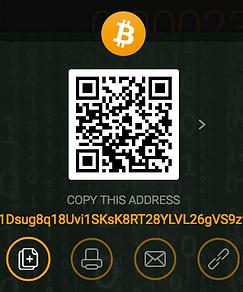 Bitcoin Wallet: 1Dsug8q18Uvi1SKsK8RT28YLVL26gVS9zv