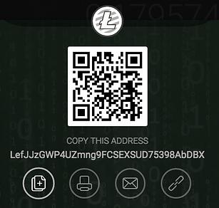 Litecoin Wallet: LefJJzGWP4UZmng9FCSEXSUD75398AbDBX