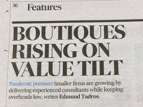 In the news Australian Financial Review - Boutique consulting thrives on promise of better value