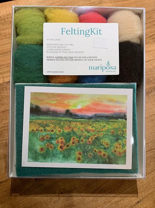 Felting Kit - Sunflower Scene