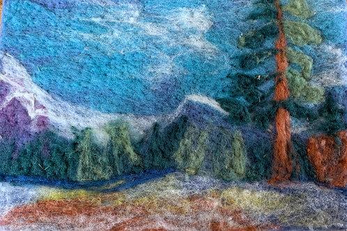 Landscape Needle Felting Online Workshop