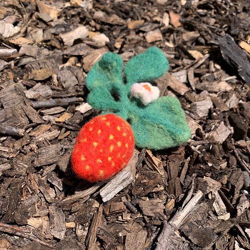 Strawberry Blossom Needle Felting Kit