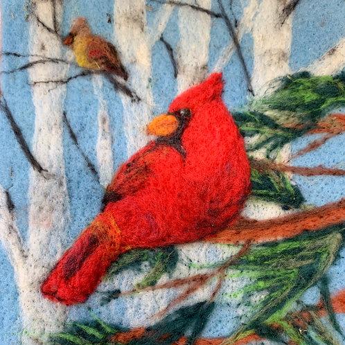 Cardinal Needle Felting Kit