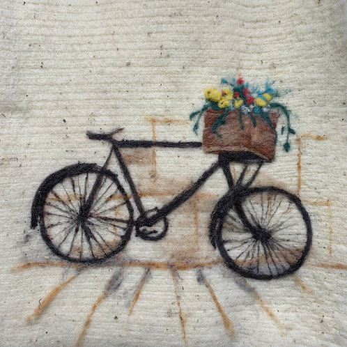 Bicycle with Basket of Flowers Workshop