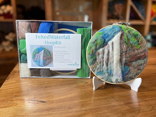 Waterfall Hoop Needle Felting Kit