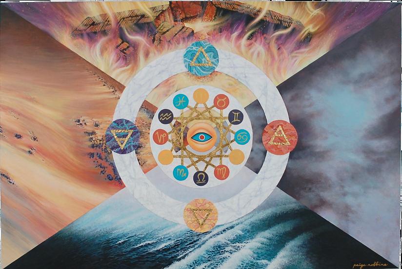 """Sacred Balance - 24"""" x 36"""" Large Acrylic Painting"""