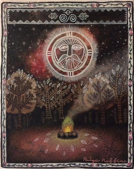 "Ritual - 8"" x 10"" Small Acrylic Painting"