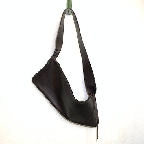 Leather Shoulder<CROV>  Dark brown(濃茶)