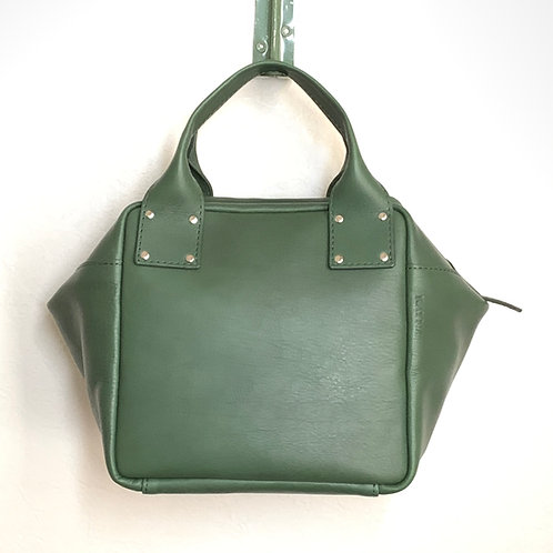 Leather Handbag<CUBE> Green(緑)