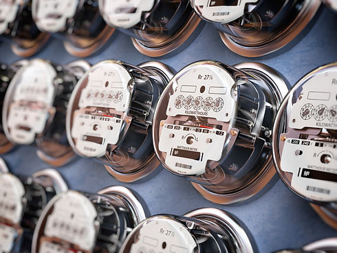electric-meters-in-a-row-measuring-power