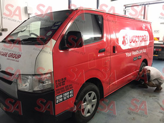 BP Healthcare Group All van change to New Red Colour.
