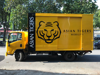 Asian Tigers Delivery Truck