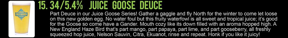 This Must Be The Menu -_Juice Goose Deuc