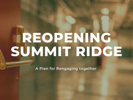 Summit Ridge Reopening Plan