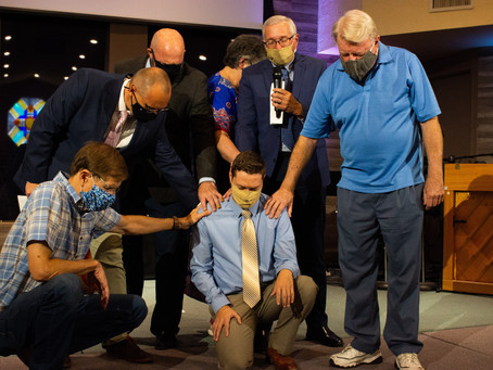 Cory Peters ordained as an Elder in the Brethren Church