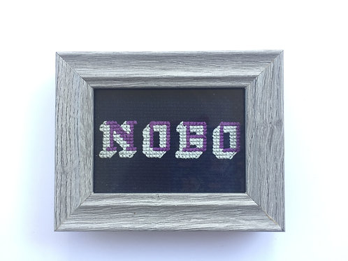 Block Letters NOBO Cross Stitch