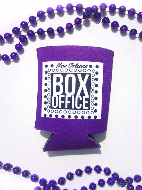 New Orleans Box Office Purple Beer Coozie