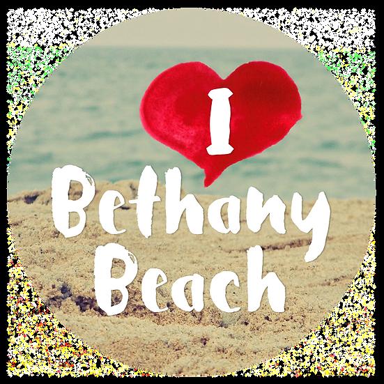 I Love Bethany Beach Window Cling