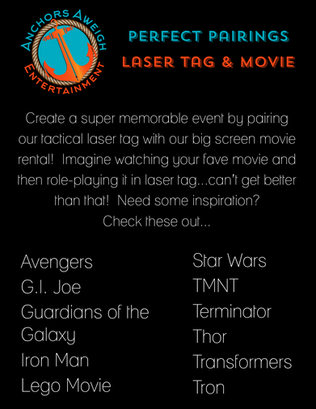 Best laser tag and outdoor movie party
