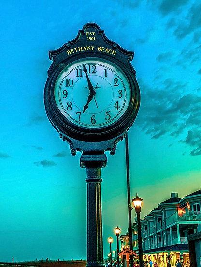 Bethany Beach Clock at Sunset