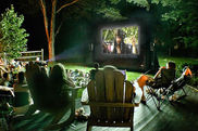 outdoor movie party blow-up movie screen rental ocean view delaware