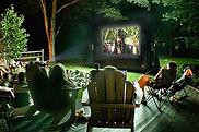 outdoor movie party blow-up movie screen rental ocean view delaware
