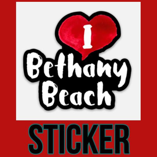 I Love Bethany Beach Die Cut Sticker