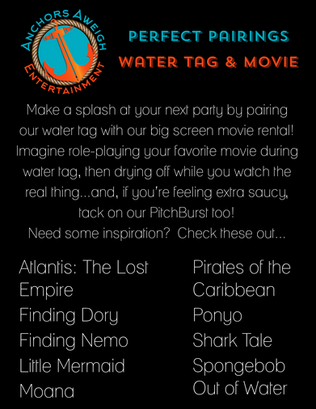 Best water tag and outdoor movie party