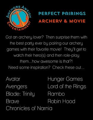 Best archery wars and outdoor movie party