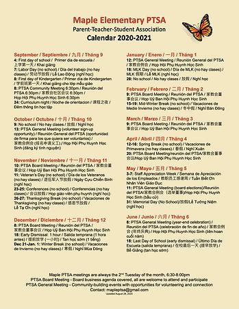 Maple PTSA Calendar 2020 - Google Docs.p