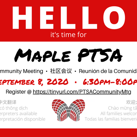 Maple Community Meeting - 社區會議 - Reunión de PTSA