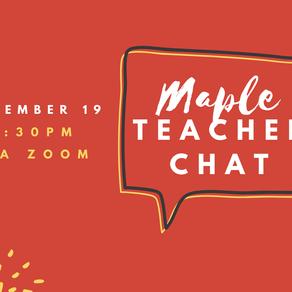 Maple Teacher Chat