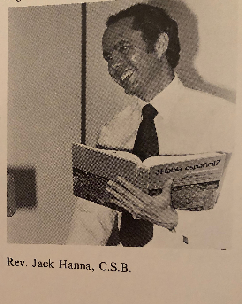 1979: Fr. Jack Hanna, University of St. Thomas yearbook, The Summa