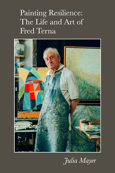 Cover of Painting Resilience shows Fred Terna in his studio