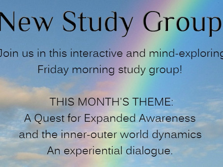 Jan 19 - NEW!! Introducing the Fri Morning Study Group! 10:00 - 12:00