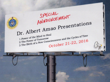 OCT 21st & 22nd 2016: FALL THEOSOPHICAL STUDY WORKSHOP BY *Dr. Albert Amao*