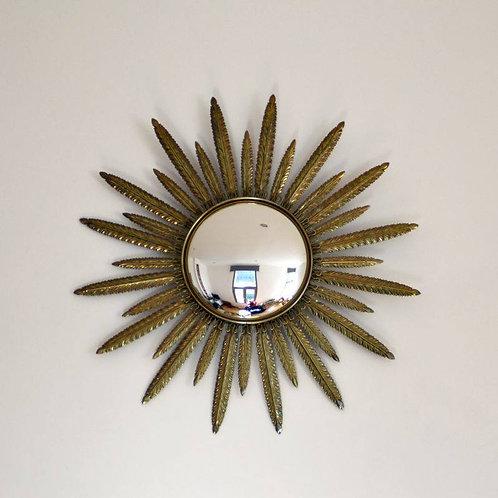 Metalen zonnespiegel met gebombeerde spiegel