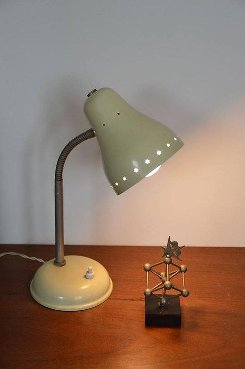 Vintage bureaulamp ontworpen door H. Busquet voor Hala Zeist in de jaren '50