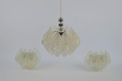 Hanglamp en muurlampen van ME Leuchten, jaren '60