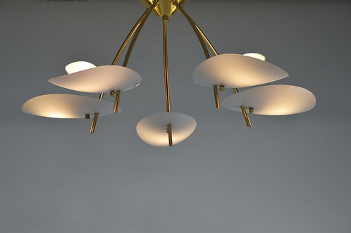 Sputnik plafondlamp van Rupert Nikoll, jaren '60