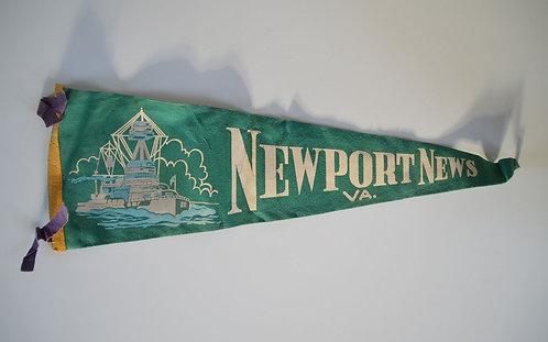 Amerikaanse vintage wimpel van Newport News, Virginia