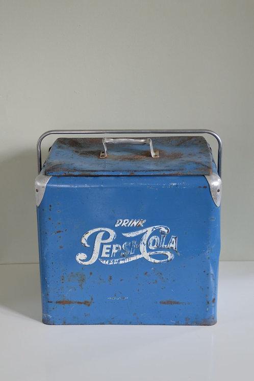 Originele metalen Pepsi-Cola koelbox, jaren '50