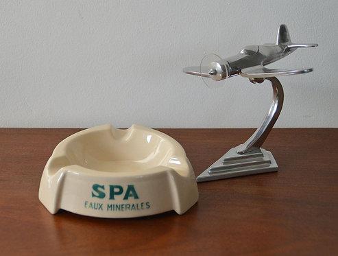 Vintage asbak met reclame van Spa in prima staat