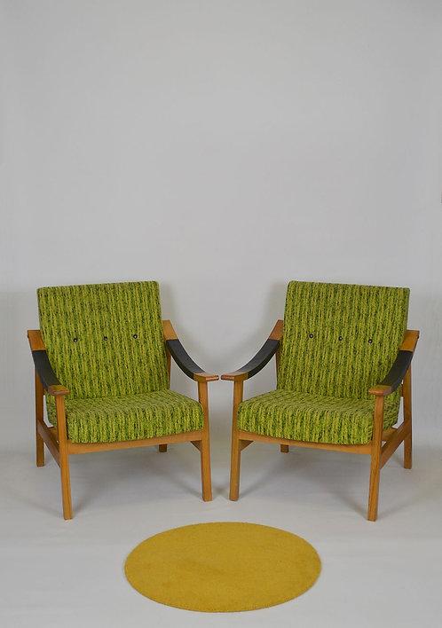 Set van 2 vintage zetels, jaren '60