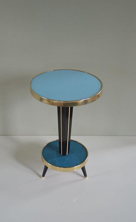 Vintage plantentafel met pastelkleurig formica, jaren '60