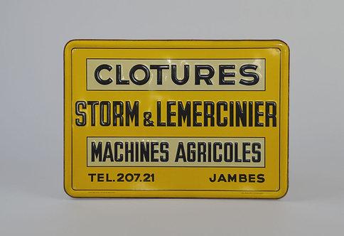 Reclamebord 'Storm & Lemercinier' van Rob Otten, 1951