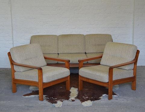 Mid-century set Scandinavische zetels, jaren '60