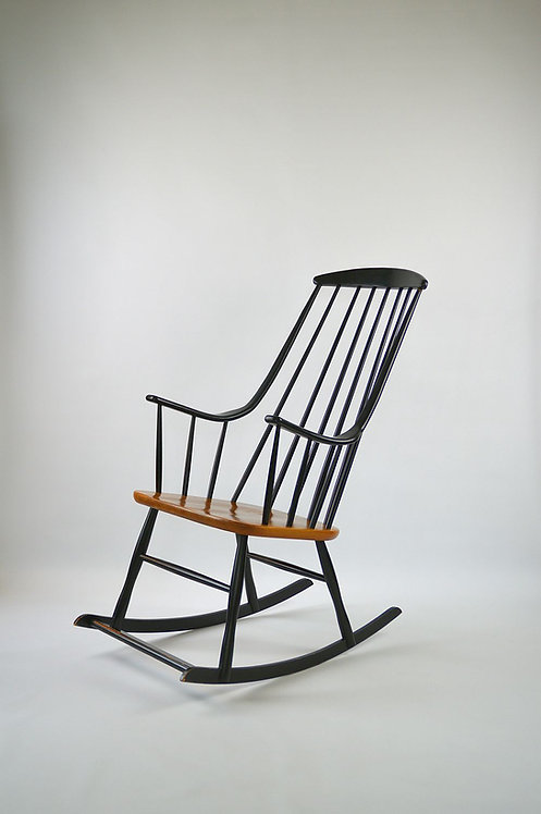 Mid-Century schommelstoel ontworpen door Lena Larsson voor Nesto, Pastoe