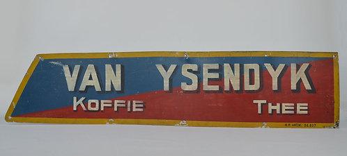 Metalen reclamebord voor Van Ysendyk Koffie & Thee, jaren '20