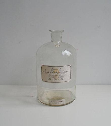 Antieke fles Eau de Cologne, groot formaat